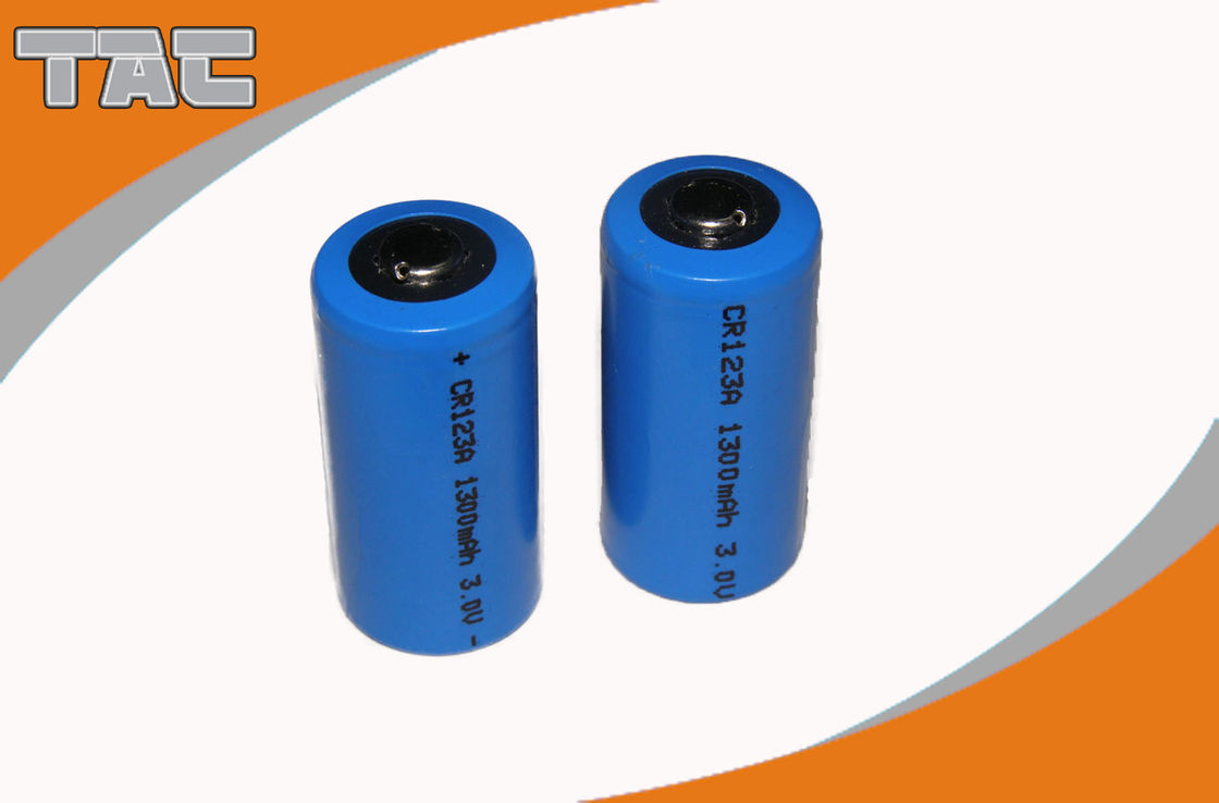 High Energy Density 3.0V CR123A 1300mAh Li-MnO2 Battery with Long operating time