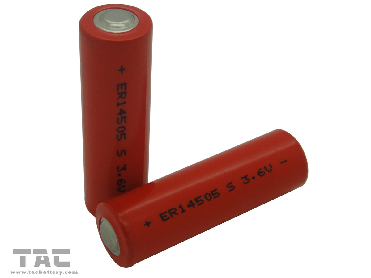 High Temperature 3.6V LiSOCl2 Batteryo of ER14500S  AA with 2000mAh